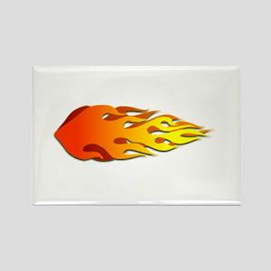 Racing Flames Rectangle Magnet