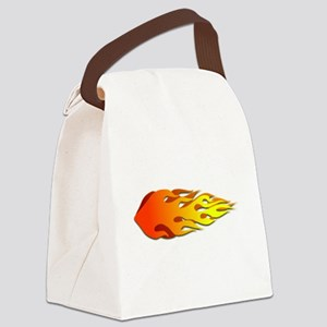 Racing Flames Canvas Lunch Bag