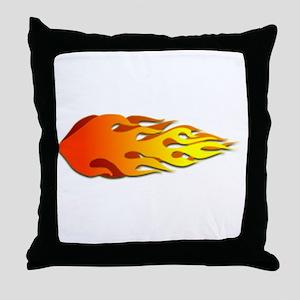 Racing Flames Throw Pillow