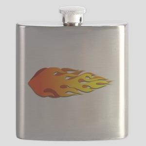 Racing Flames Flask