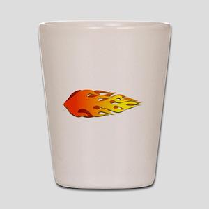 Racing Flames Shot Glass