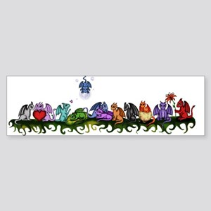 many cute Dragons Bumper Sticker