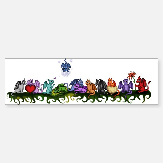 many cute Dragons Bumper Bumper Bumper Sticker