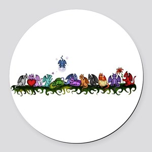many cute Dragons Round Car Magnet