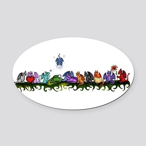 many cute Dragons Oval Car Magnet