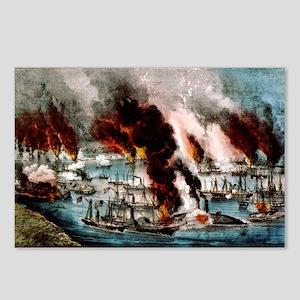 The U.S. Frigate Mississippi destroying the rebel