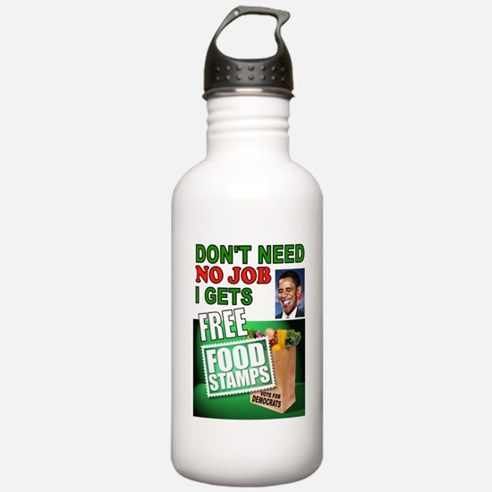 FREE FOOD STAMPS Water Bottle