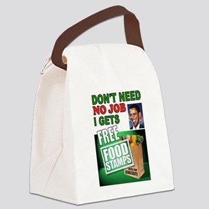 FREE FOOD STAMPS Canvas Lunch Bag