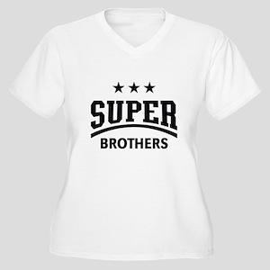 Super Brothers (Black) Plus Size T-Shirt