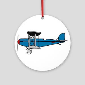Vintage Biplane Ornament (Round)
