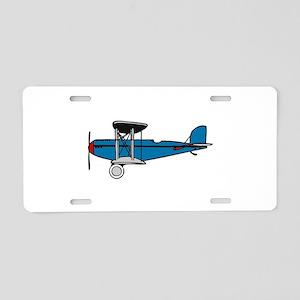 Vintage Biplane Aluminum License Plate