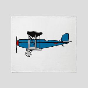 Vintage Biplane Throw Blanket