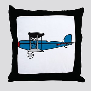 Vintage Biplane Throw Pillow