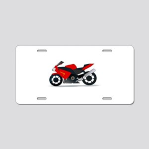 Sportbike Motorcycle Aluminum License Plate