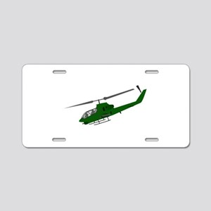 Attack Helicopter Aluminum License Plate