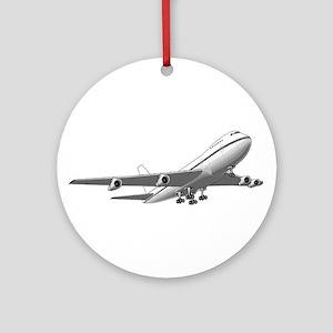 Passenger Jet Airplane Ornament (Round)