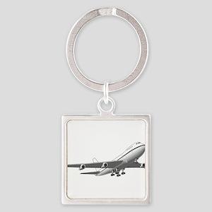 Passenger Jet Airplane Keychains
