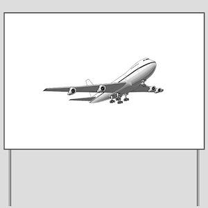 Passenger Jet Airplane Yard Sign