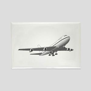 Passenger Jet Airplane Rectangle Magnet