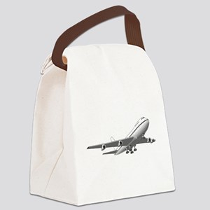 Passenger Jet Airplane Canvas Lunch Bag