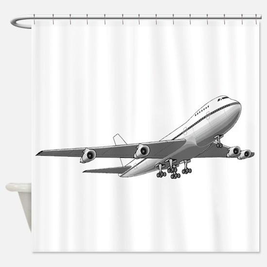 Passenger Jet Airplane Shower Curtain