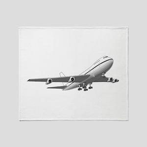 Passenger Jet Airplane Throw Blanket