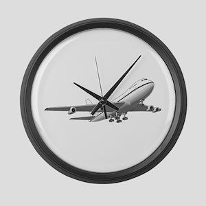 Passenger Jet Airplane Large Wall Clock
