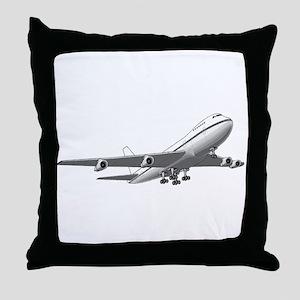 Passenger Jet Airplane Throw Pillow