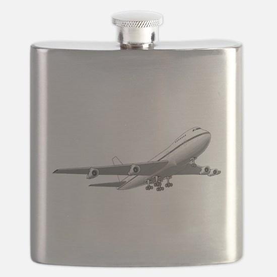 Passenger Jet Airplane Flask