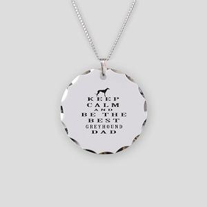 Greyhound Dad Designs Necklace Circle Charm