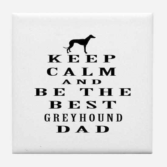 Greyhound Dad Designs Tile Coaster