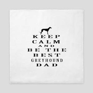 Greyhound Dad Designs Queen Duvet