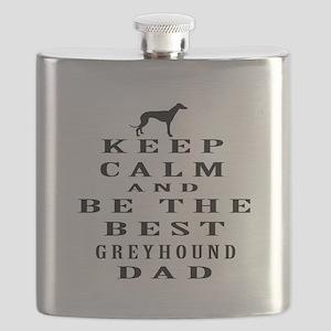 Greyhound Dad Designs Flask
