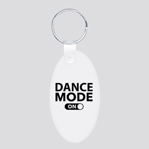 Dance Mode On Aluminum Oval Keychain
