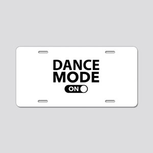 Dance Mode On Aluminum License Plate