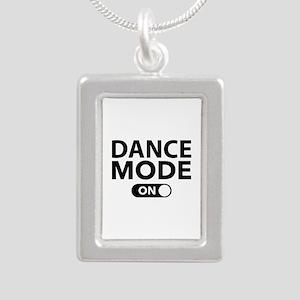 Dance Mode On Silver Portrait Necklace