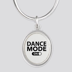 Dance Mode On Silver Oval Necklace