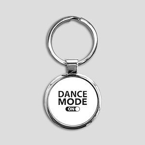 Dance Mode On Round Keychain