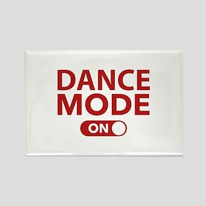 Dance Mode On Rectangle Magnet