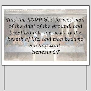 Genesis 2:7 Yard Sign