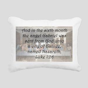 Luke 1:26 Rectangular Canvas Pillow