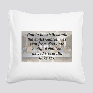 Luke 1:26 Square Canvas Pillow