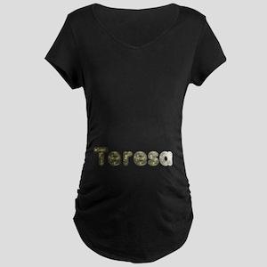 Teresa Army Maternity Dark T-Shirt