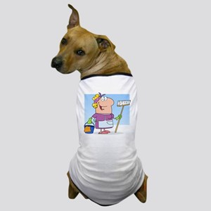 cartoon maid cleaning lady housekeeper Dog T-Shirt