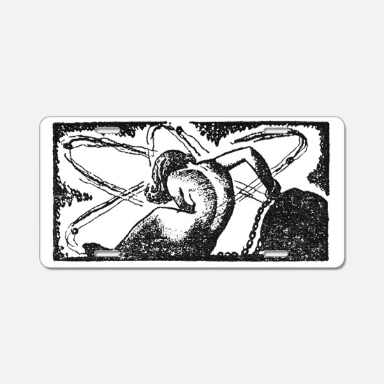 Chained Woman Aluminum License Plate
