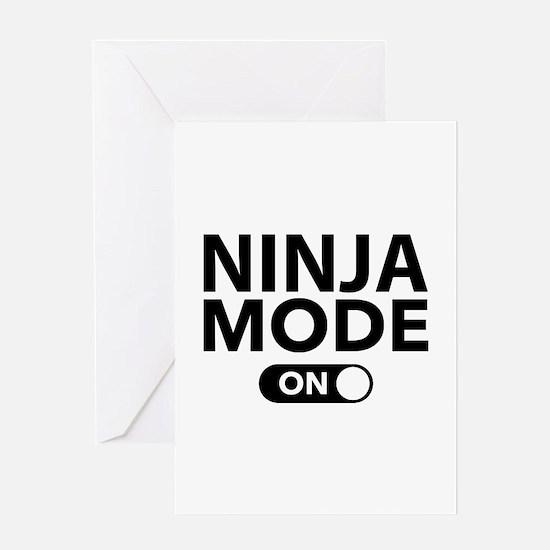 Ninja Mode On Greeting Card