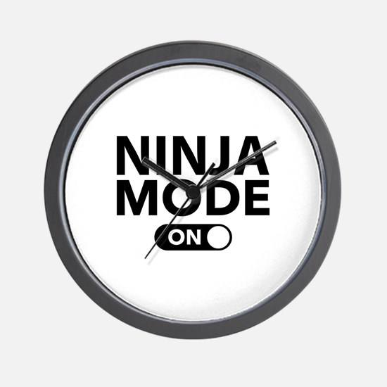 Ninja Mode On Wall Clock