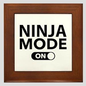 Ninja Mode On Framed Tile
