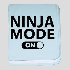 Ninja Mode On baby blanket