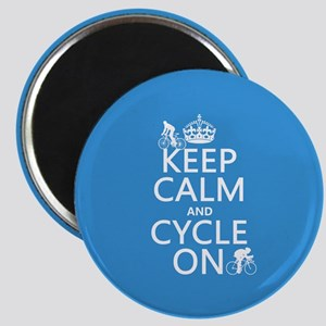 Keep Calm and Cycle On Magnet
